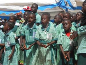 Primary School Children Singing Strong